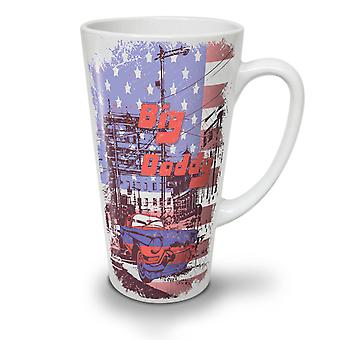 City Big Daddy Flag USA NEW White Tea Coffee Ceramic Latte Mug 17 oz | Wellcoda
