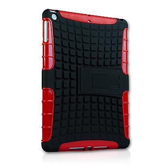 Caseflex Ipad aire resistente soporte tapa - rojo