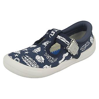 Boys Clarks Doodles Casual Shoes 'Briley Sky 17'