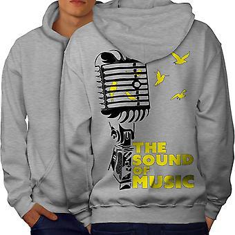Freedom Saying Song Music Men GreyHoodie Back | Wellcoda