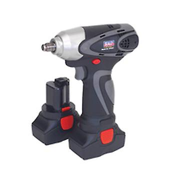 Sealey Cp6001 Cordless Impact Wrench 14.4V 2Ah Li-Ion 3/8In Sq Dr 140Nm - 2 Bats
