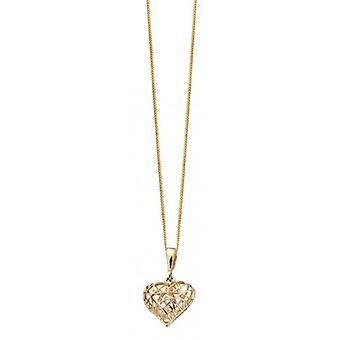 Elements Gold Caged Heart Pendant - Gold