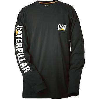 Caterpillar Mens varumärke logotyp T bomullsskjorta