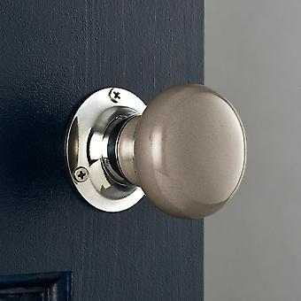 Dark Grey Ceramic Mortice Door Knobs