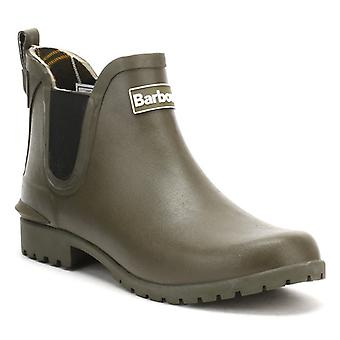 Barbour Womens Olive Green Wilton Chelsea Boots