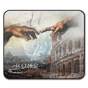 Rome View  Non-Slip Mouse Mat Pad 24cm x 20cm | Wellcoda