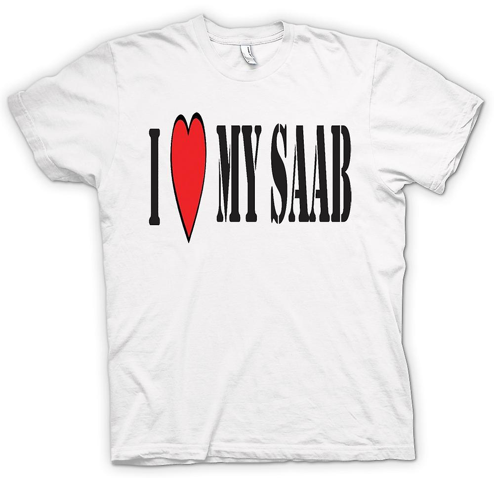 T-shirt - io LoveMy Saab - Auto divertente