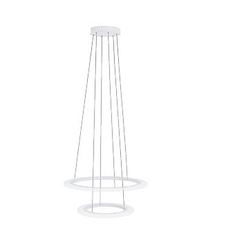 Eglo LED Hanging Lamp Dia: 590 2 Ringe Weiss Penaforte