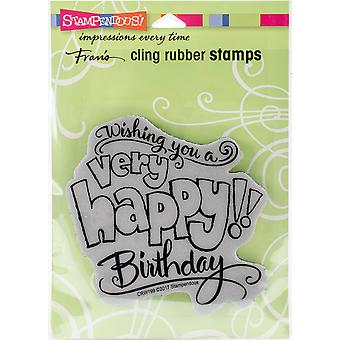 Stampendous Cling Stamp -Great Big Happy