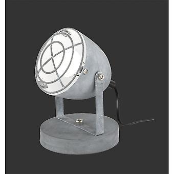 Trio Beleuchtung Cammy moderner Betonoptik Metall Tischlampe