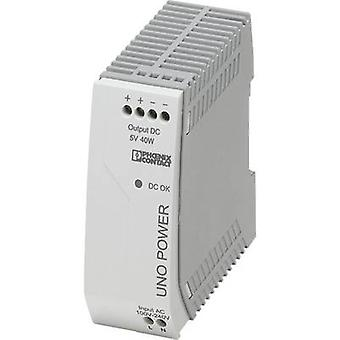 Rail mounted PSU (DIN) Phoenix Contact UNO-PS/1AC/ 5DC/ 40W 5 Vdc 8 A 25 W 1 x
