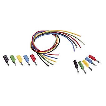 VOLTCRAFT MS-4041 Test lead kit [Banana jack 4 mm - Banana jack 4 mm] 1 m Black, Red, Blue, Yellow, Green