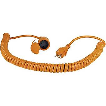 as - Schwabe 70415 Current Cable extension Orange, Black 5 m Spiral cable