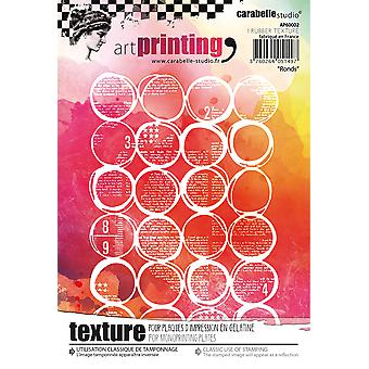 Carabelle Studio Art Printing A6 Rubber Texture Plate-Rounds