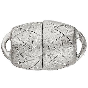 Kettenschließe Magnet-Schließe 925 Sterling Silber eismatt Kettenverschluss