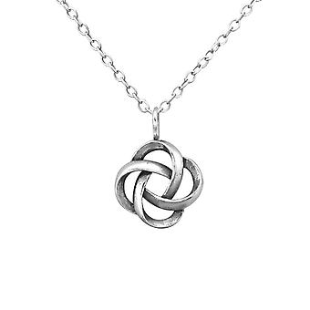 Knot - 925 Sterling Silver Plain Necklaces - W30874x