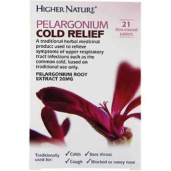 Higher Nature Pelargonium Cold Relief, 21 tablets