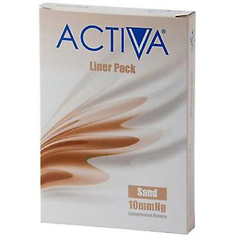 Activa Compression Tights Liners O/tå Sand X-Lge 10Mmhg 3