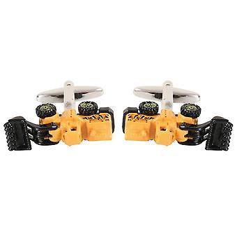 David Van Hagen Dumper Truck Cufflinks - Yellow