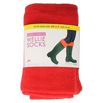 Las señoras RJM polar Wellie calcetines estilo - SK205CDU