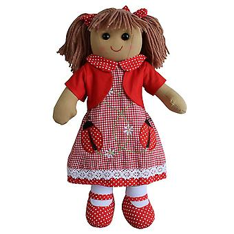 Powell Craft Ladybird Dress Rag Doll