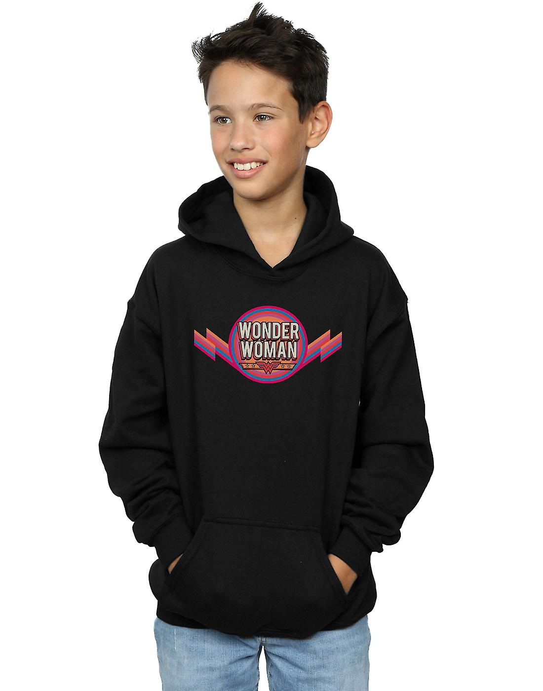 DC Comics garçons Wonder femme Rainbow Logo Hoodie