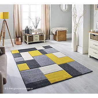 Portland blokken geel tapijt