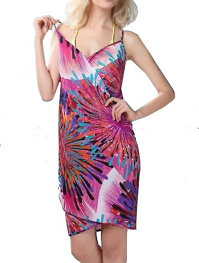 Waooh - mode - blommig tryckt sarong