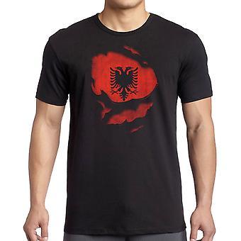 Albanian Albania Ripped Effect Under Shirt Women T Shirt