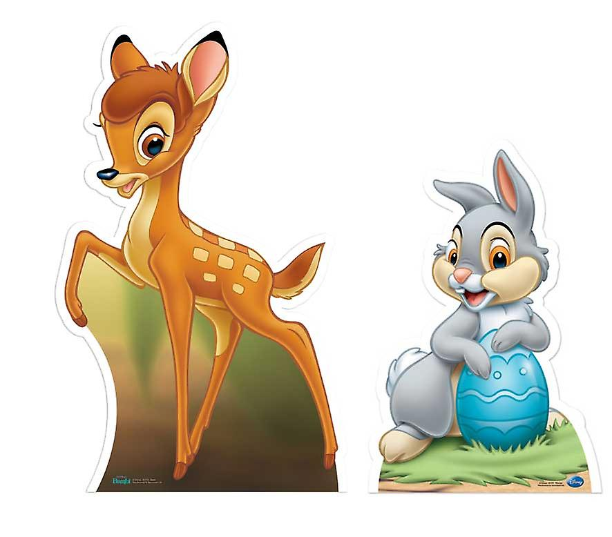 Bambi and Thumper Lifesize Cardboard Cutout / Standee Set