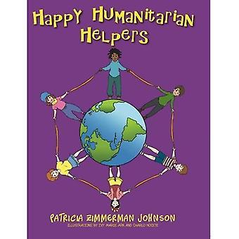 Glücklich humanitäre Helfer