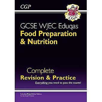 Nya 9-1 GCSE matberedning & Nutrition WJEC Eduqas fullständig översyn & praxis (med Online Edn)