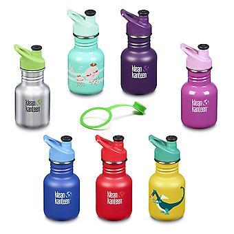 Klean Kanteen बच्चों पेय बोतल स्टेनलेस स्टील 355ml-खेल कैप-नई डिजाइन