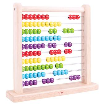 Bigjigs Toys Educational Wooden Abacus Counting Math Learn Numbers