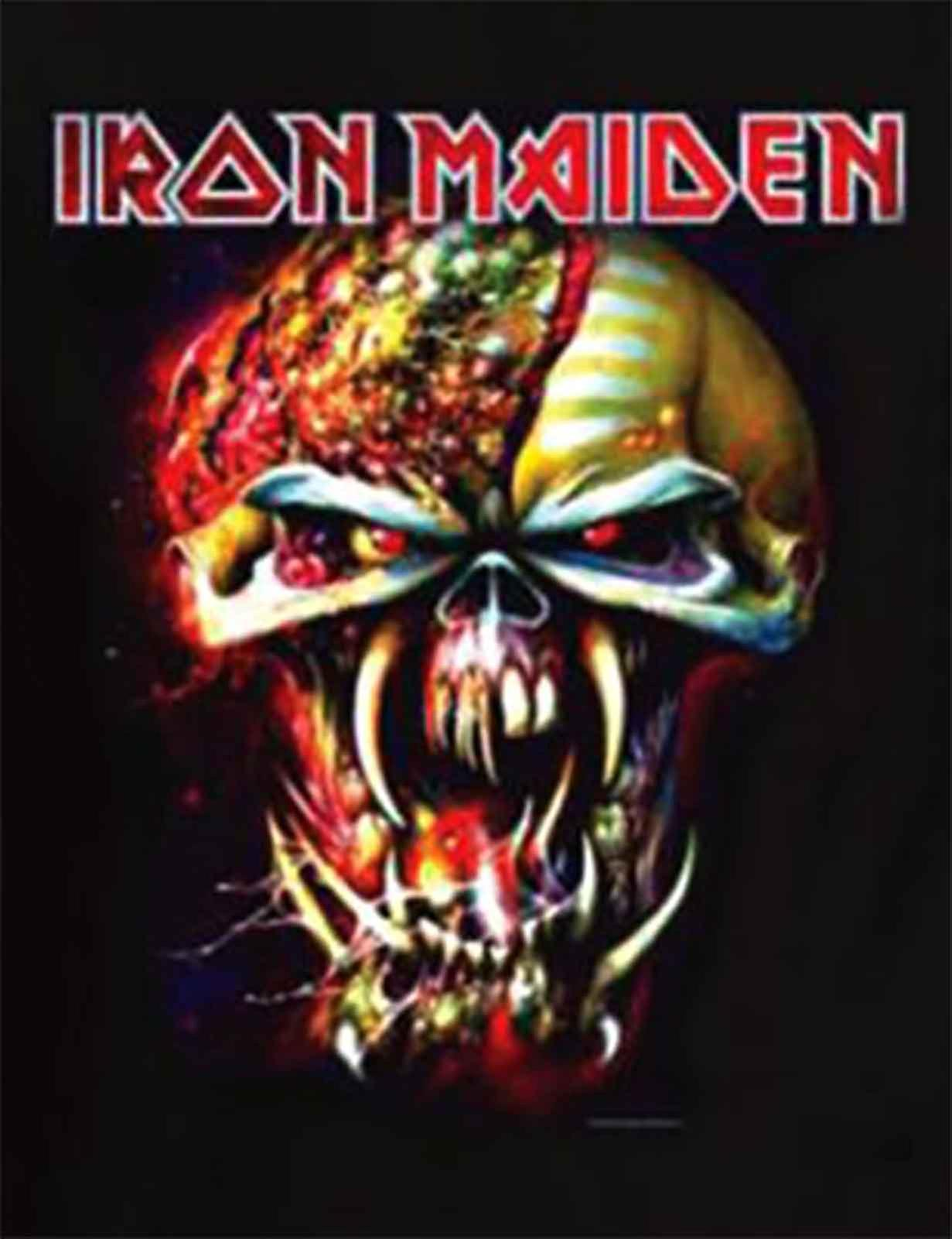 5390fb3a Iron Maiden T Shirt Final Frontier Eddie Head Official Womens New Skinny Fit