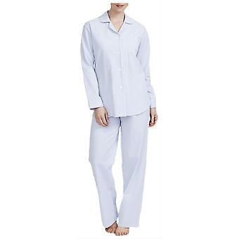 Britse boksers Porthtowan seersucker pyjama-licht blauw