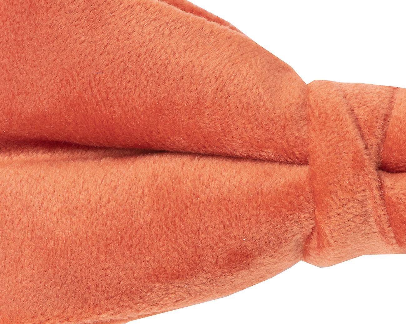 Dobell Orange Velvet Bow Tie