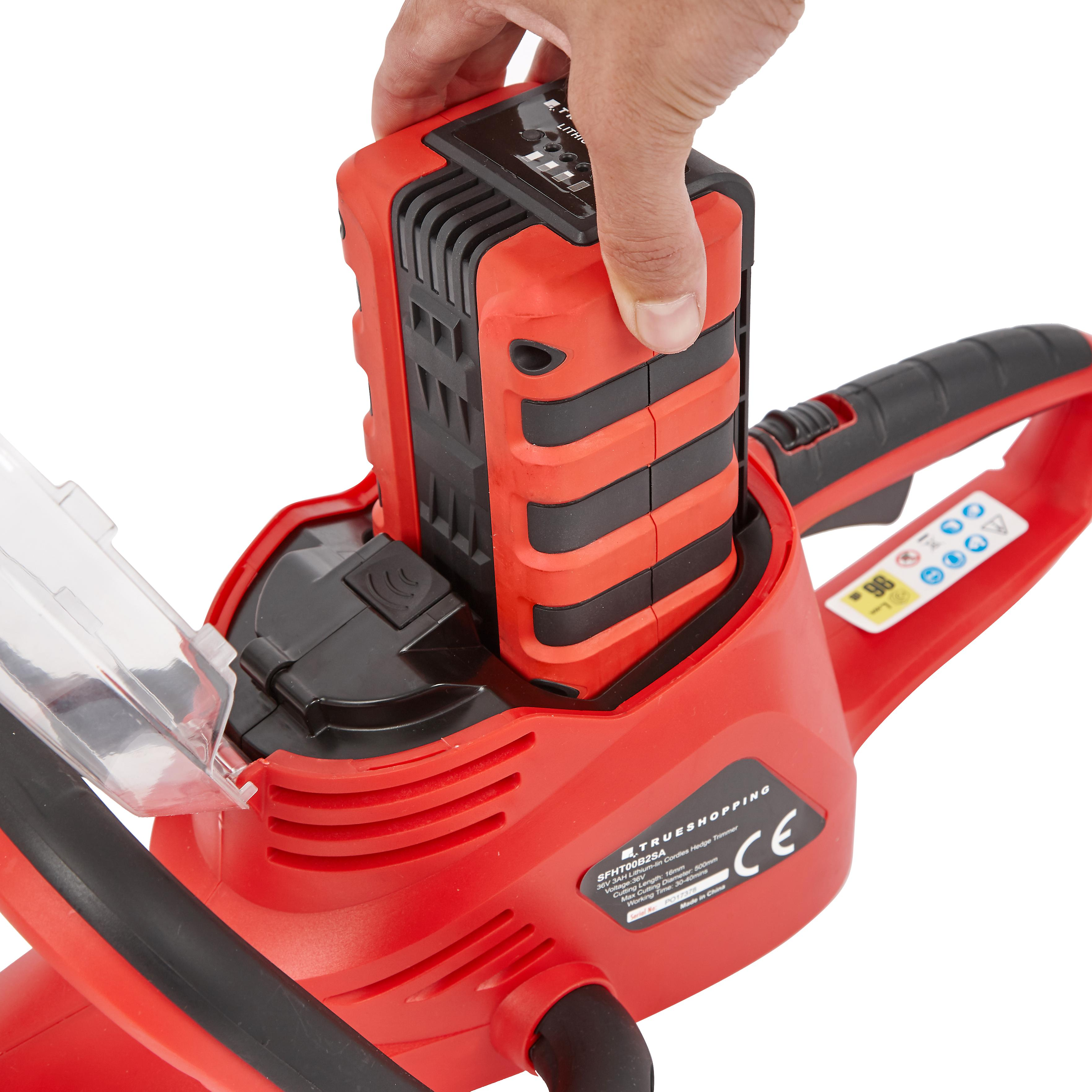 Lightweight Cordless 36V Hedge Trimmer/Cutter Li-Ion Battery and Fast Charger