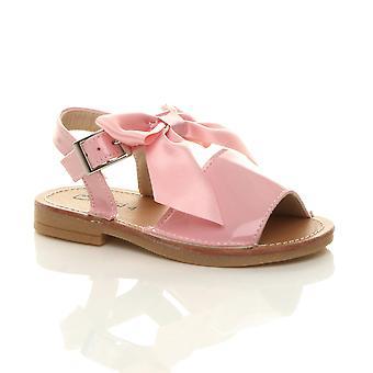 Ajvani Girls bambino fibbia nastro arco menorcan scarpe di sandalo estivo