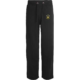 The Prince Of Wales Leinster Regiment - Licensed British Army Embroidered Open Hem Sweatpants / Jogging Bottoms