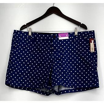 Merona Shorts Zip Front Casual Polka Dot Shorts Blue Womens