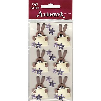 Easter Bunny And Envelope Craft Embellishment By Artoz