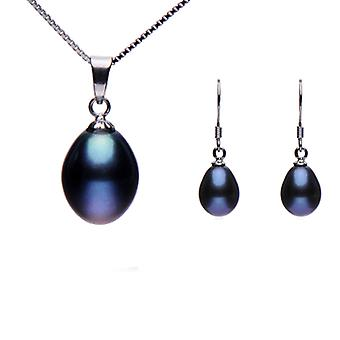 925 Sterling Silver 8-9mm Freshwater Cultured Pearl Set