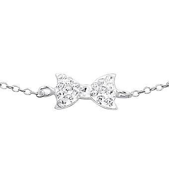 Бант - стерлингового серебра 925 пробы браслеты цепи - W18605X