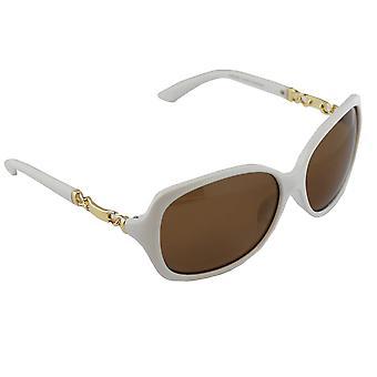 Sonnenbrille UV 400 oval polarisierendes Glas weiß S356_1 FREE BrillenkokerS356_1