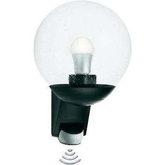 Outdoor wall light (+ motion detector) Energy-saving bulb, LED E27 60 W Steinel L585 05535 Black