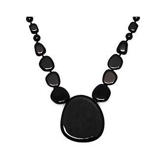 Lola rosa Kayley collar negro ágata