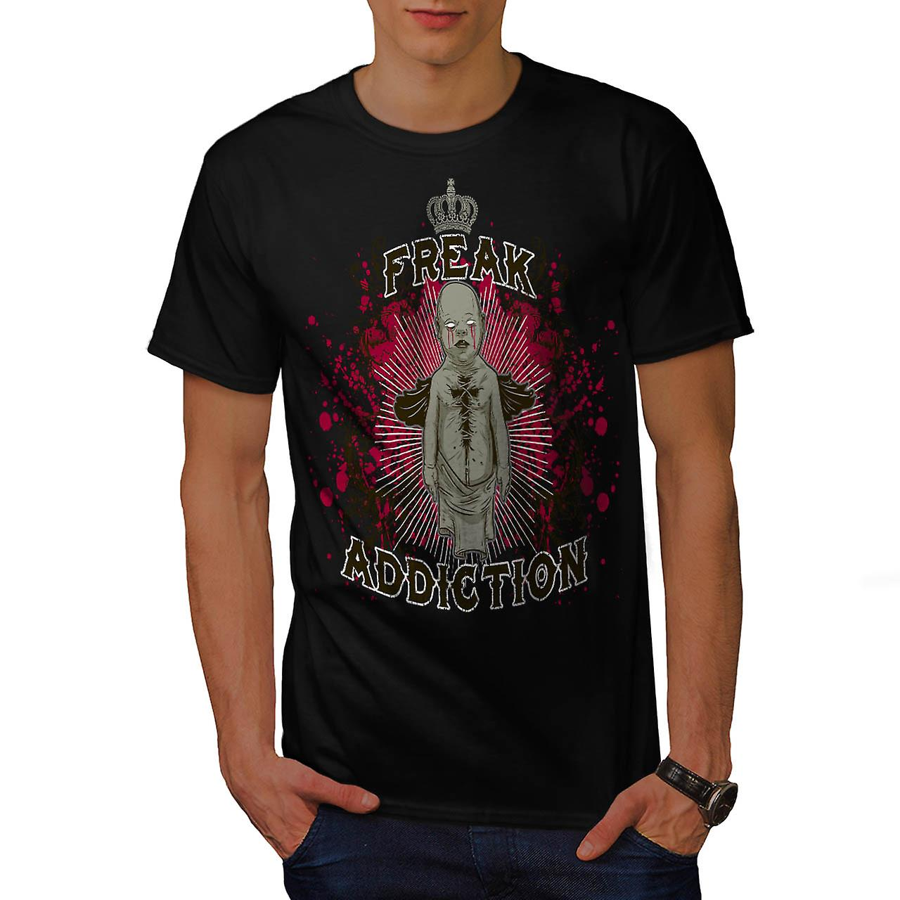 Freak Addiction Zombie Men Black T-shirt | Wellcoda