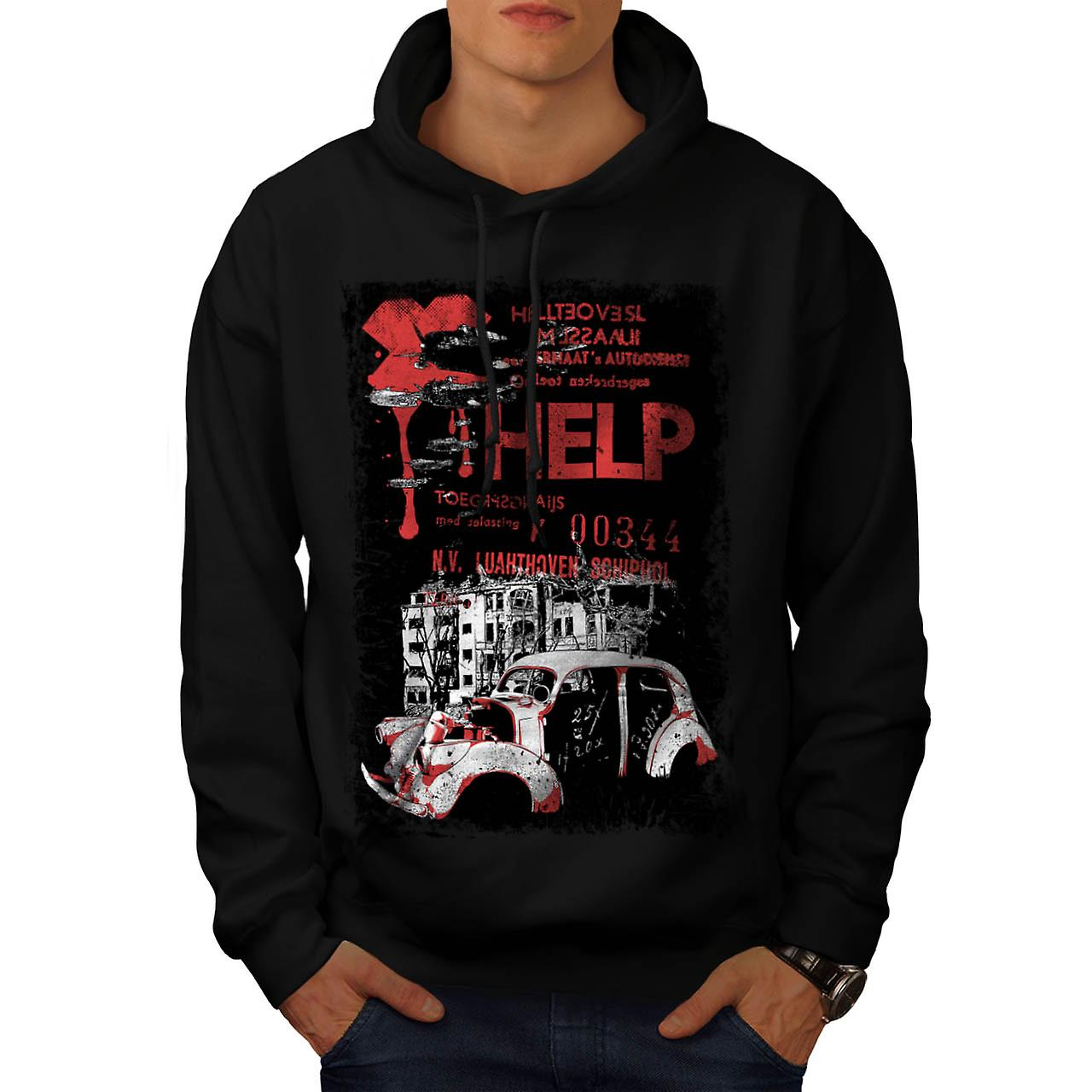 Help Hell City Fashion Men Black Hoodie | Wellcoda