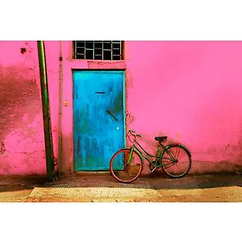 Gifts with Style Pink Wall & Bike Print
